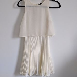 Topshop Ivory Tennis Dress Open Flutter Back